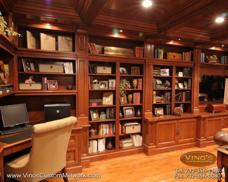 21 best images about home office library on pinterest for Custom home library design