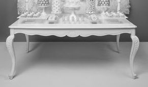 Our Vintage Euro entry table - 2 X120 white