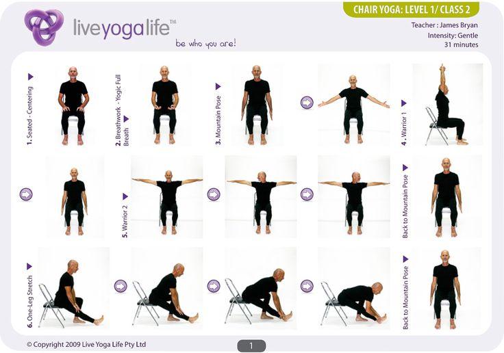 Las 25 mejores ideas sobre yoga de silla en pinterest for Sillas plegables para yoga