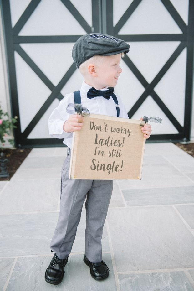 Fun Don't Worry Ladies I'm Still Single Sign for Ring Bearer / Page Boy