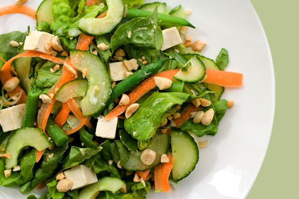 Ensalada de tofu con zanahoria