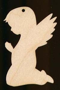 Angel Christmas Ornament Natural Wood Cutout 715 3 5 | eBay