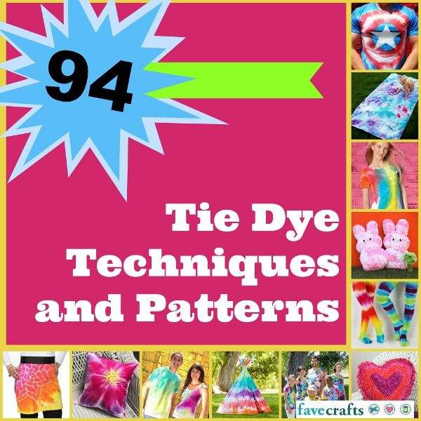 Get ready for summer with this epic collection of 94 Tie Dye Techniques and Patterns.
