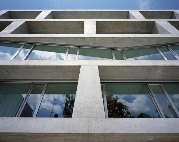 Silvia gmur reto gmur wohnhaus m ller basel 1 architectur concrete pinterest basel - Gmur architekten ...