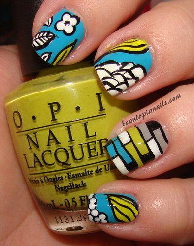 Vera Bradley Inspired Nails! Matches my purse (: