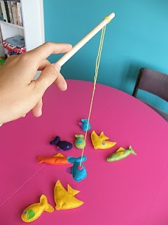 Go Fishing - Cute...try to catch the fish...fun with magnets ♥
