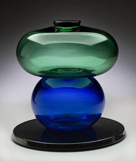 Ettore Sottsass (1917-2007) Vase Diodata (1974) Verre soufflé, applications de verre, édité par Vistosi, Murano, Italie