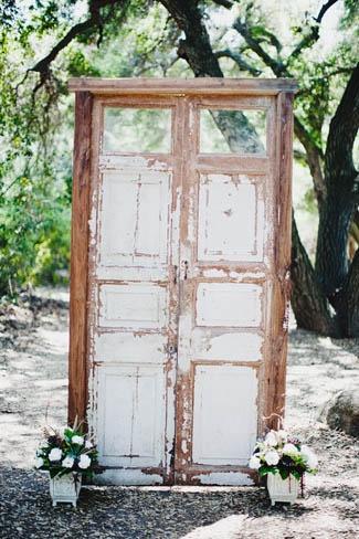 puerta vieja. decoración. photocall