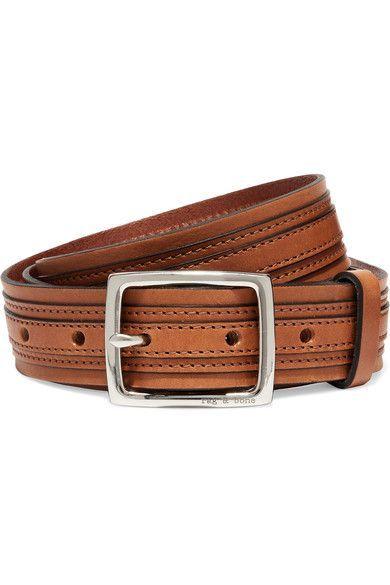 rag & bone - Tiegan Leather Belt - Tan - L