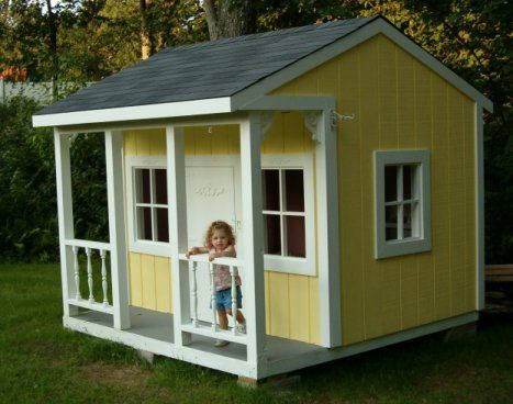 kids outdoor playhouse plans - Google Search