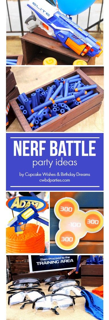How to throw a kid-friendly Nerf Battle Party and ideas on how to do it on a budget.