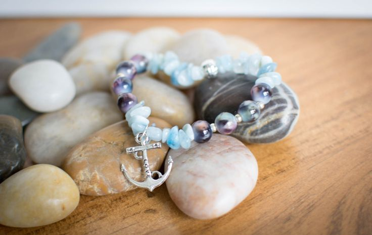 A personal favorite from my Etsy shop https://www.etsy.com/ca/listing/458195394/sea-inspired-aquamarine-stretch-bracelet