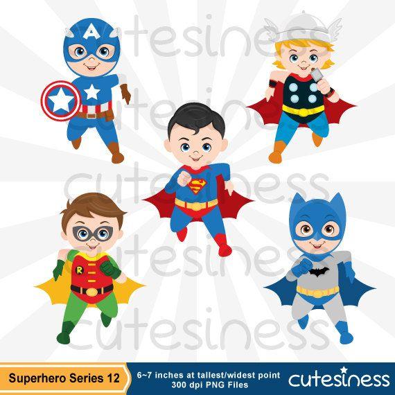 Superhero Clipart Superhero Clip Art Superhero by Cutesiness
