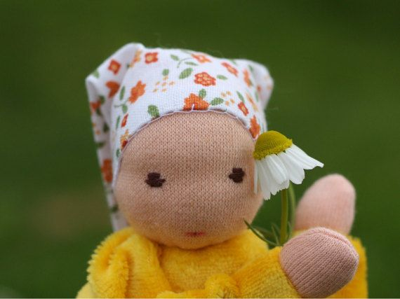 Chamomile waldorf doll  aromaterapeutic toy from by ElodeaToys