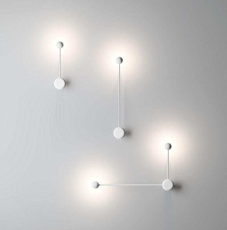 Lampada da parete a LED orientabile Collezione Pin by Vibia design Ichiro Iwasaki