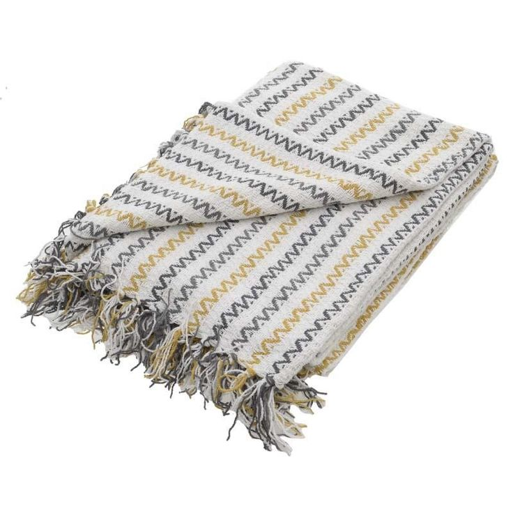 Chenille Throw - Throws / Blankets - FABRIC ITEMS - inart