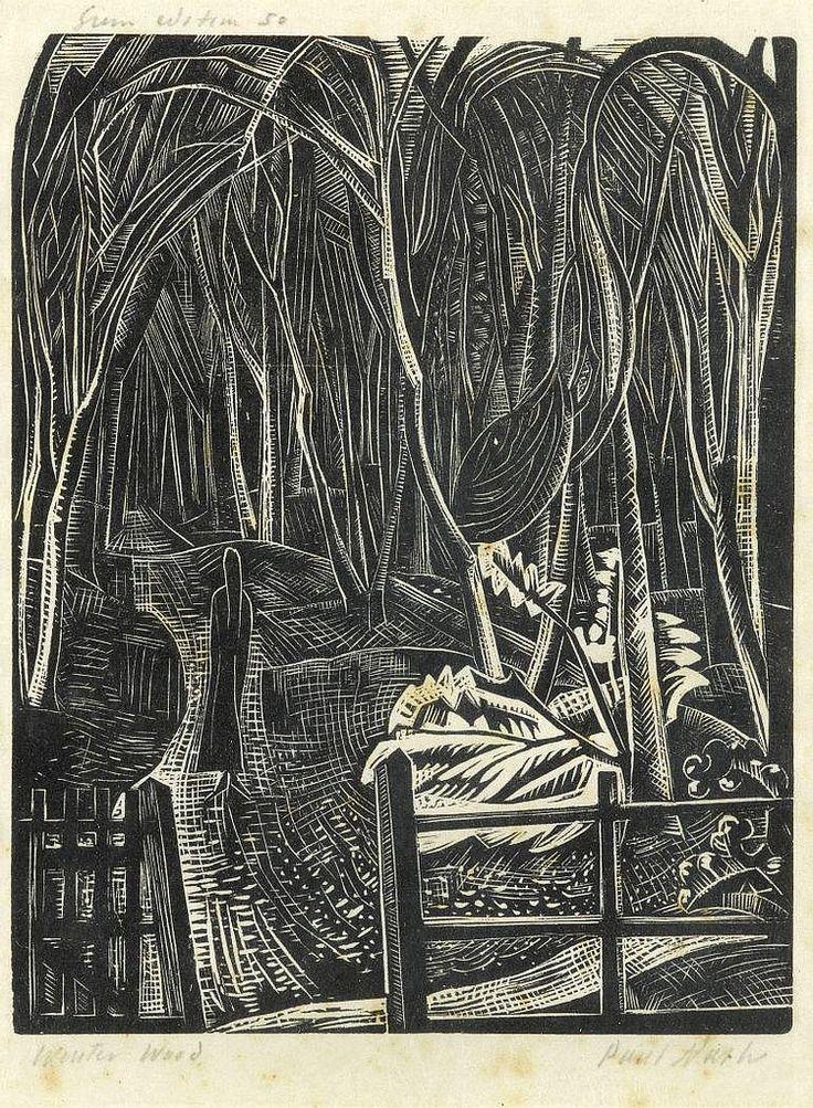 Winter Wood, 1922, Nash, Paul. (1889 - 1946) - Wood engraving -