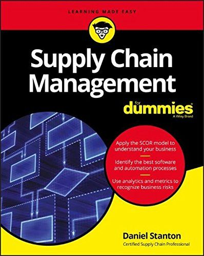 Supply Chain Management For Dummies PDF Free Download | Books to
