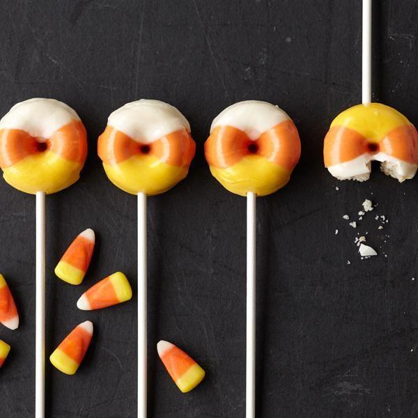 Candy Corn Mini Doughnuts.