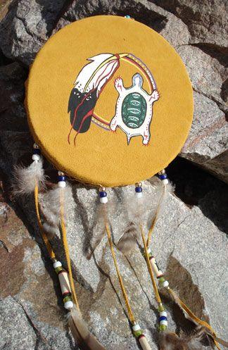 Hand-painted Ojibway drum