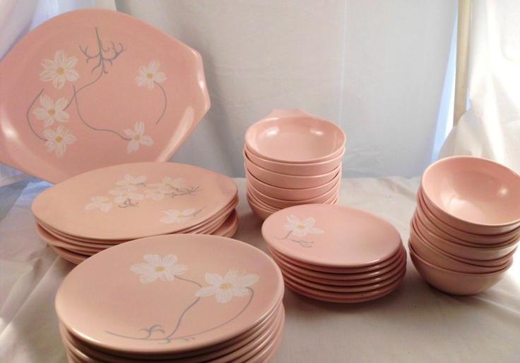83 Best Vintage Melamine Melmac Images On Pinterest & Pink Melamine Dinnerware - Castrophotos