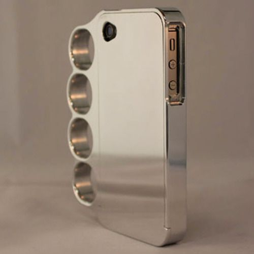 Brass knuckles iPhone case - want!