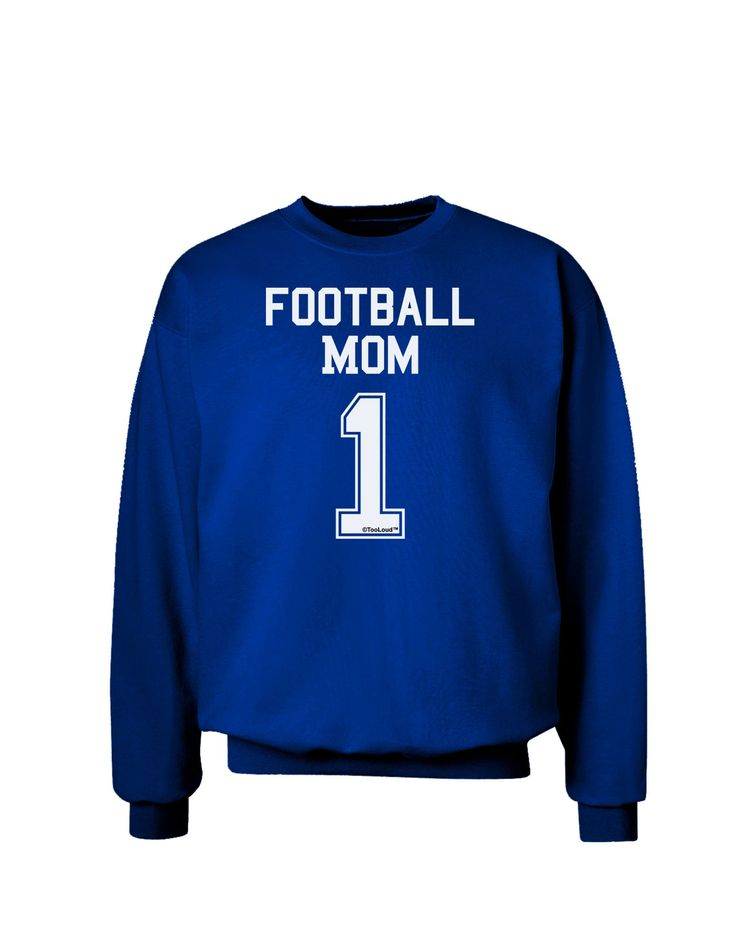 Football Mom Jersey Adult Dark Sweatshirt