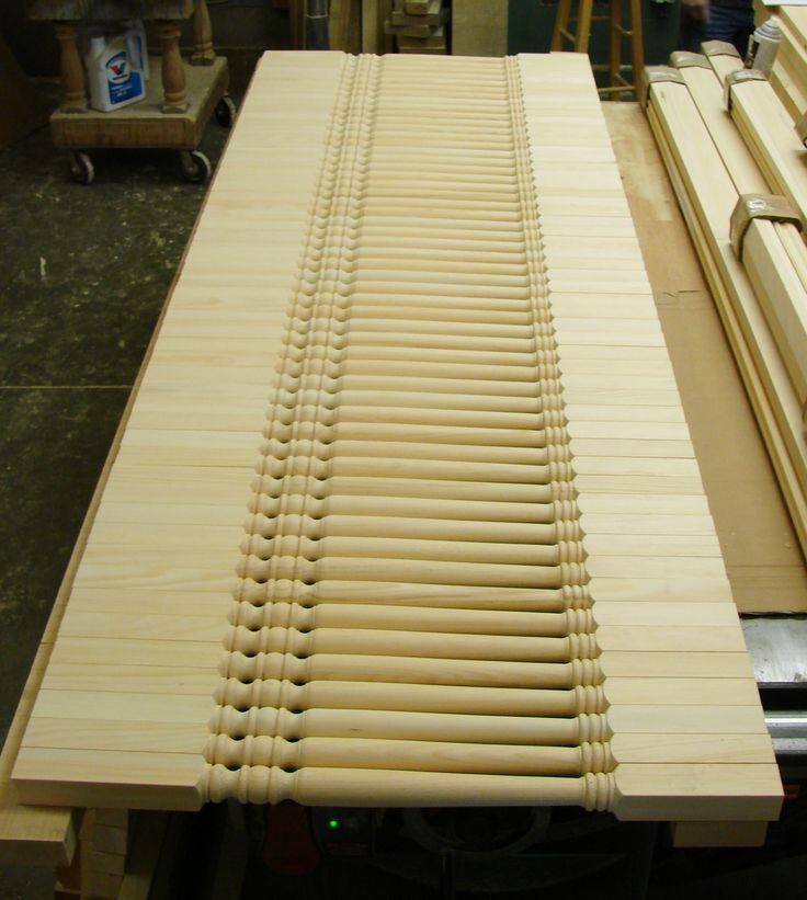 Wood spindles.