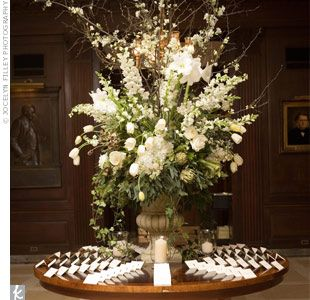 LOVE this escort card table, simply classic...don't be surprised if you see this at my wedding ;)