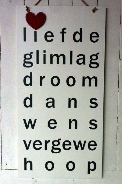 Liefde Glimlag Sign | Mooi Goete