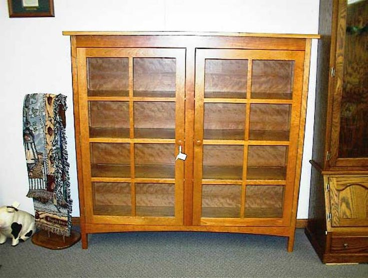 24 best bookcases with glass doors images on pinterest locally amish custom crafted cherry bookcase with glass doors planetlyrics Images