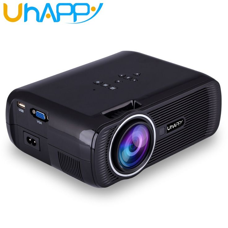 Uhappy X7 U80 Portable Mini Projector HDMI LCD Home Theater Beamer LED Overhead Proyector Support Full HD 1080P Video Android