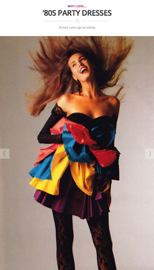 Today on periodicult.com: celebrating the '80s party dress.