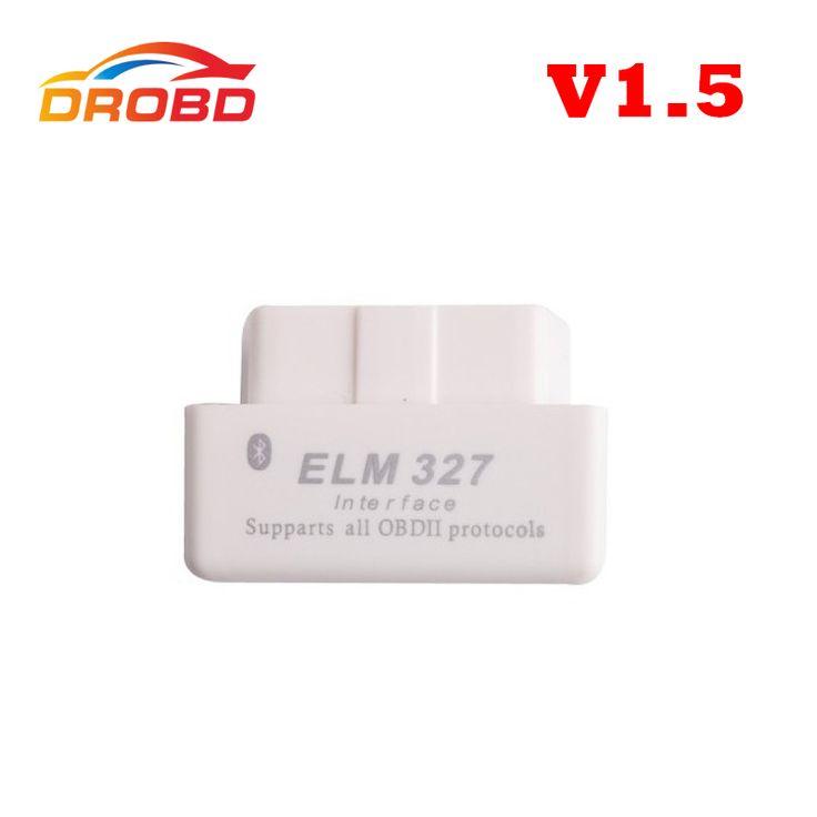 ממשק אבחון אוטומטי קוד Reader פרוטוקול מלא תמיכת חומרה Mini ELM 327 V1.5 מיני ELM327 Bluetooth OBD-II OBD2 סורק