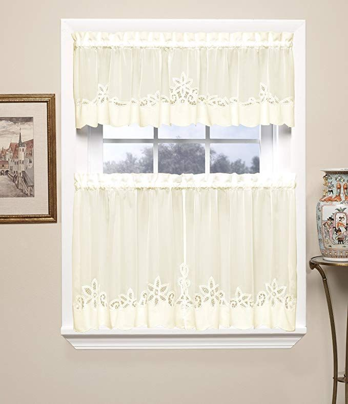 Today S Curtain Plymouth Classic Battenburg Applique Sheer Window