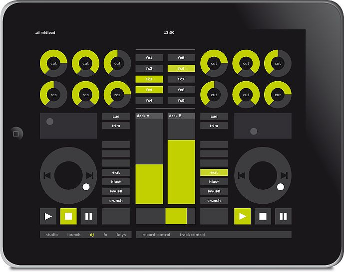 midipad-ipad-music-app-wireless-touchscreen-software-controller-for-ableton-live-sequencer-dj-view.png (689×548)