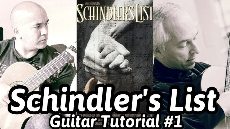 "John Williams ""Schindler's List"" Classical Guitar Tutorial#1 Note-By-Not..."