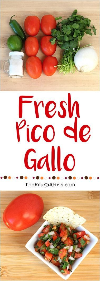 Fresh Pico de Gallo Salsa Recipe! ~ from TheFrugalGirls.com ~ Go grab the Tomatoes!  Just 6 Ingredients and you've got the Best Salsa Ever... such a delicious, healthy snack!