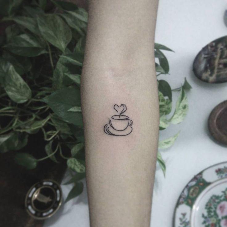 Café é muito amor ☕ . #tattoo #tattoos #tatuagem #tatuagens #tatuagensdel - teenaleite