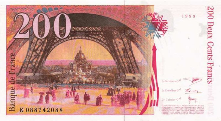 Collection Billet Banque de France - F.75 - 200 francs Eiffel