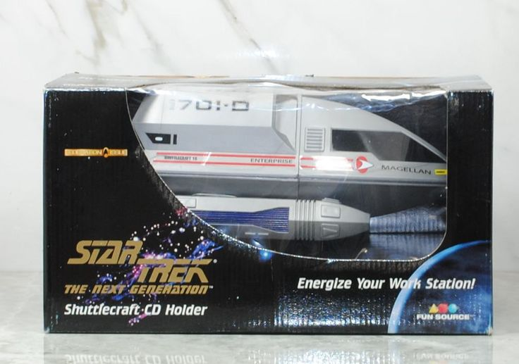 Vintage Star Trek The Next Generation Shuttlecraft CD Holder Stock Number 07004, Computer Accessory, Transport, Compact Disk, CD Storage by winterparkcollect on Etsy
