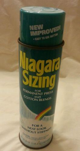 Vtg-1983-NIAGARA-Sizing-20-OZ-Metal-Spray-can-graffiti-history-fat-cap-changed