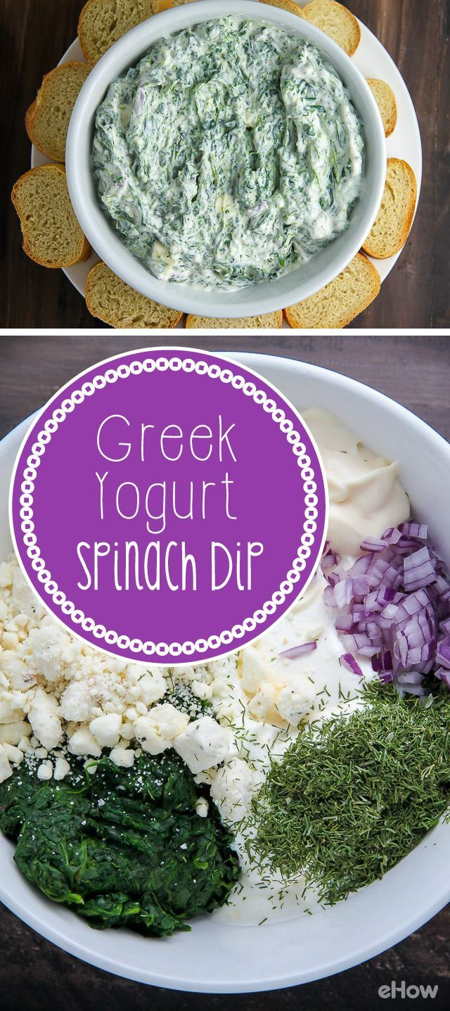 Healthy alternative to typically heavy spinach dip! Use greek yogurt to make this delicious, creamy classic spinach dip. IT'll be gone in seconds no matter what party you serve this at. http://www.ehow.com/how_12343024_creamy-greek-yogurt-spinach-dip.html?utm_source=pinterest.com&utm_medium=referral&utm_content=freestyle&utm_campaign=fanpage