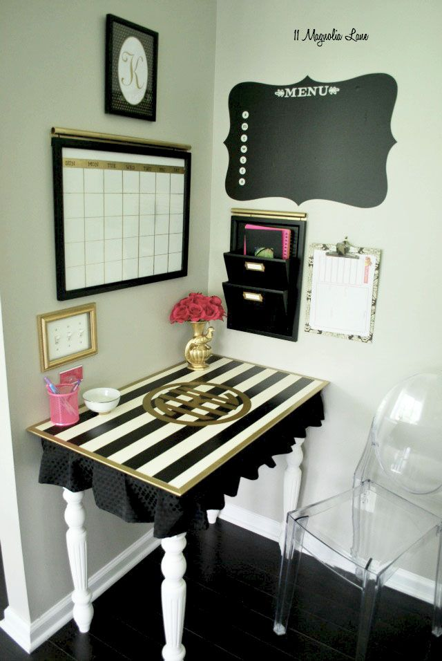 operation organization glam black and white command center small office decorsmall office spaceswork spacesoffice ideassmall home - Decorating Ideas For Small Home Office