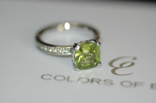 Peridot Engagement Ring Holy Grail #solitaire #engagement #ring