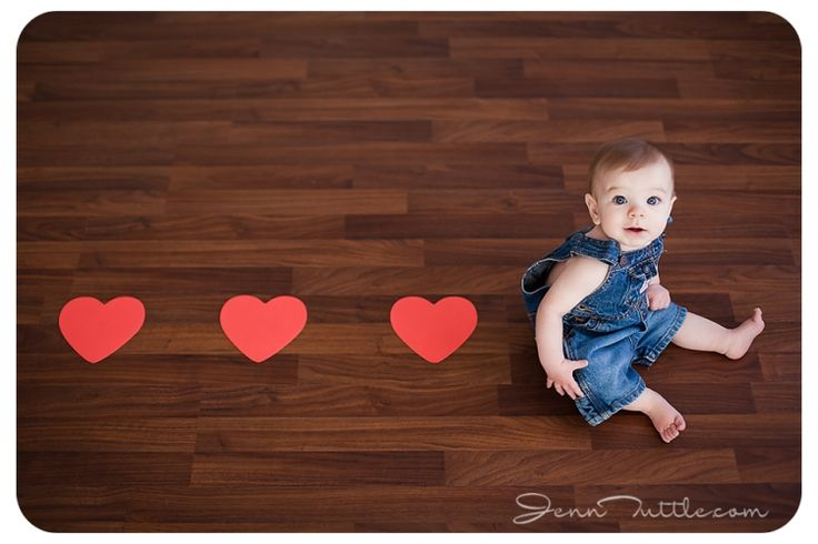 valentine mini session baby