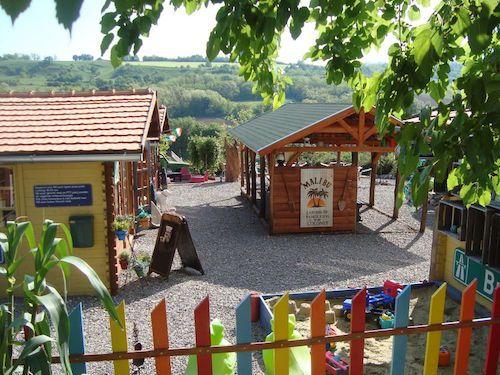 Sfeerfoto op de website van camping Jó Napot! in Hongarije.