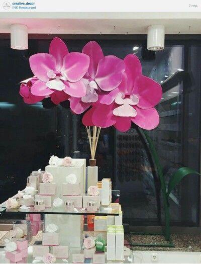 Paper flowers backdrop: