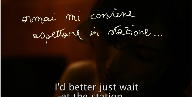 "italian handwriting - still from ""notte sento"" (short film by daniele napolitano)"