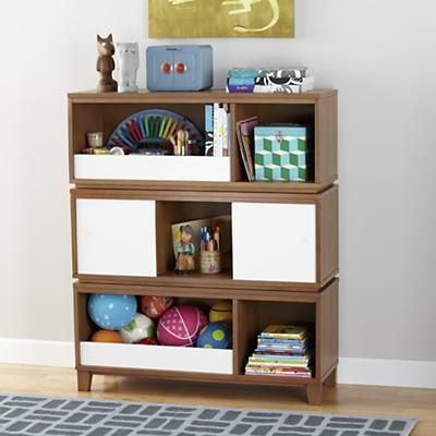 Kids' Bench: Kids Bookcase Bench with Bin in Bookcases